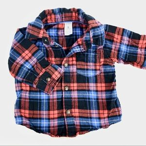 Carters checkered button down sweater